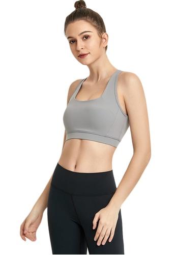 B-Code grey ZWG7009Lady Quick Drying Running Fitness Yoga Sports Bra -Grey D36C9US870E0DBGS_1