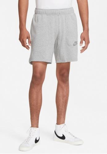 Nike grey Sportswear Men's French Terry Shorts 76516AA6B4A257GS_1