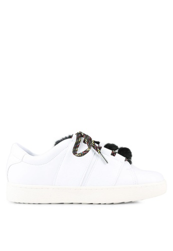 Mango white Fur Lace-Up Sneakers MA193SH0RTDYMY_1