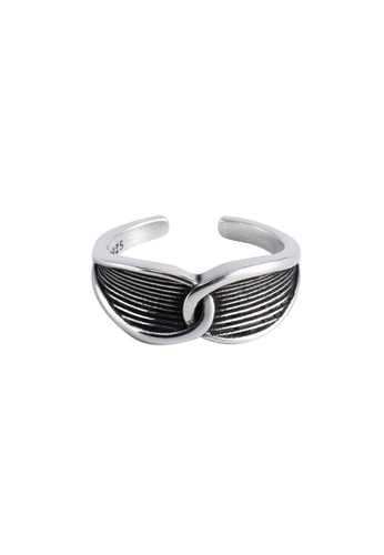 A-Excellence silver Premium S925 Sliver Intertwined Ring DF5C6ACCBF3327GS_1