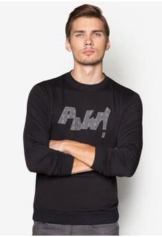 Applique Text Sweatshirt