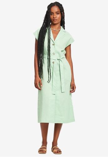 St MRLO green Hyams Midi Dress 0B206AA7D509A5GS_1
