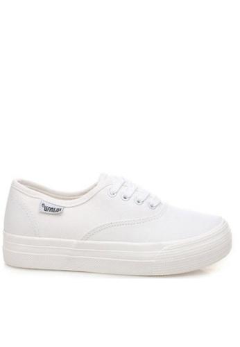 Twenty Eight Shoes white Basic canvas platform sneaker 5115 TW446SH82UAFHK_1