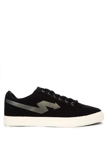Sonnix black Windu Q118 Laced-Up Sneakers 9C23ESH7089596GS_1