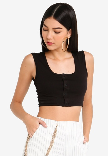b4f1a2e4a5a8f Buy MISSGUIDED Sleeveless Button Front Crop Top Online on ZALORA ...