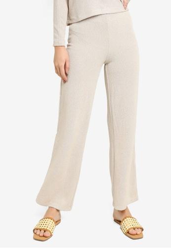 H&M beige Fine-knit Trousers 6E9CDAA2E267DAGS_1