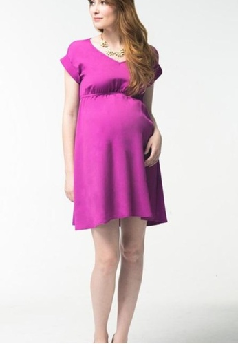 Bove by Spring Maternity purple Woven Kimono Sleeved Corrine Dress Purple 1733AAA87D2754GS_1