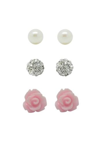 Fur Nyce pink Everlasting Romance Pearl Stud Earring Set FU779AC99NTSMY_1