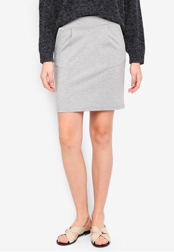 ICHI grey Kate Skirt 9CED5AA4ECFA4BGS_1