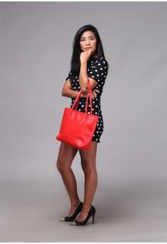 Sabrina Tote Bag in Tango Red