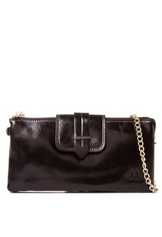 Clutch Leather Wallet With Detached Sling