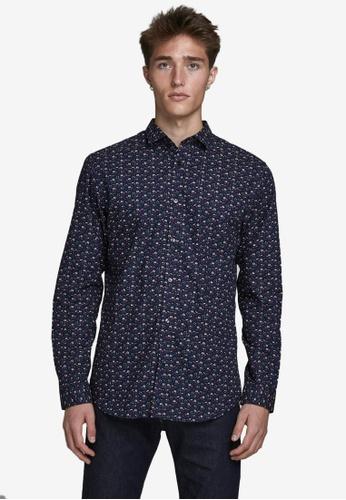 JACK & JONES navy Ckpool Long Sleeve Shirt D70C8AAF6BE451GS_1