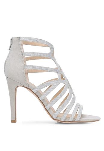 Something Borrowed grey Cut Out Peep Toe Heels C35B2ZZ3FAAE5AGS_1