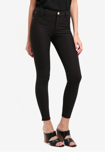 River Island black Molly Techno Skinny Trouser 76E6EAA53AF73AGS_1