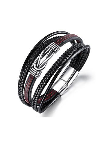 ADORA multi Stainless Steel Leather Bracelet 3C0BEAC03534F2GS_1