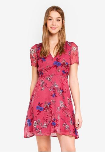 Vero Moda red Katinka Short Dress 5606AAA212C589GS_1