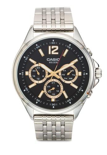 MTP-E303D-1AVDF esprit outlet 台灣三副錶盤不銹鋼男錶, 錶類, 飾品配件