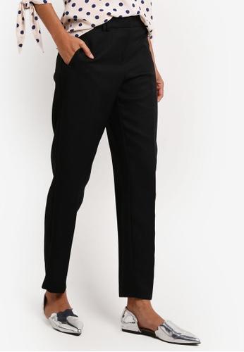 Dorothy Perkins black R: Rivet Slim Pique Trousers DO816AA0RCHTMY_1