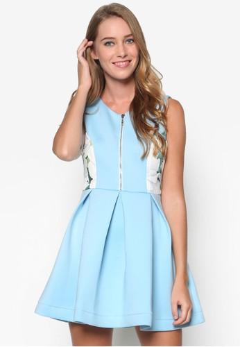 牡丹花拼接傘狀洋裝, esprit 衣服服飾, 洋裝