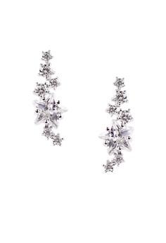 Falling Star Silver Earrings