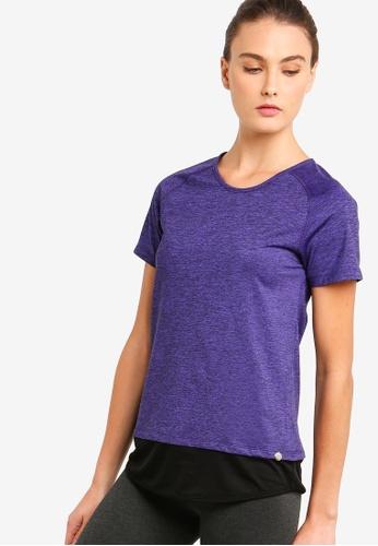 AVIVA purple Performance Short Sleeve Top C82B3AAF5B3FC4GS_1