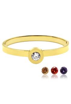 Venice Replaceable Crystal Bracelet Bangle (18k Gold Plated)