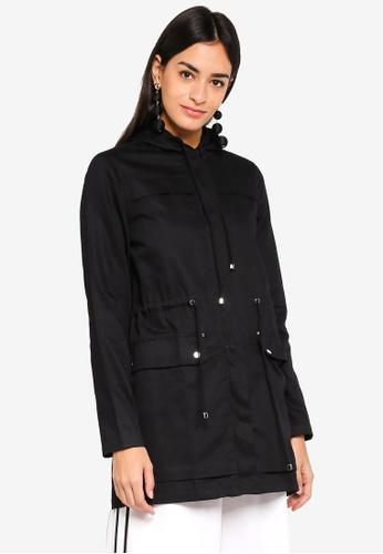ZALORA black Parka Jacket CD7EFAAC61DE00GS_1
