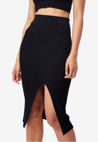Supre black Audrey Co Ord Midi Skirt FD605AA13B56E2GS_1