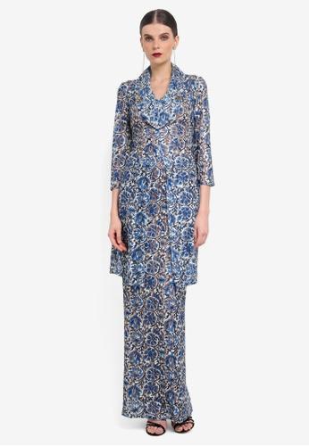 Rizalman for Zalora white and blue Long Lace Kebaya RI909AA0SF11MY_1