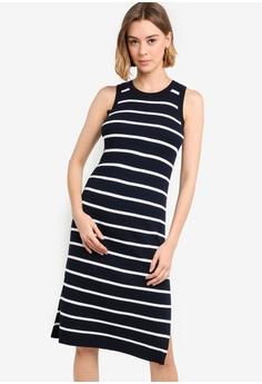 0ad92bb699392 Banana Republic blue and navy Petite Sleeveless Rib Column Sweater Dress  6CC96AAA780497GS_1