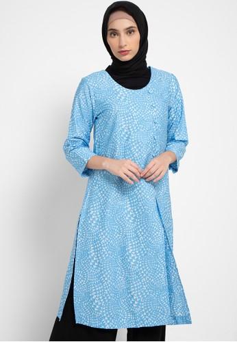 AZZAR blue Daisy Tunic 38568AA6D005BFGS_1