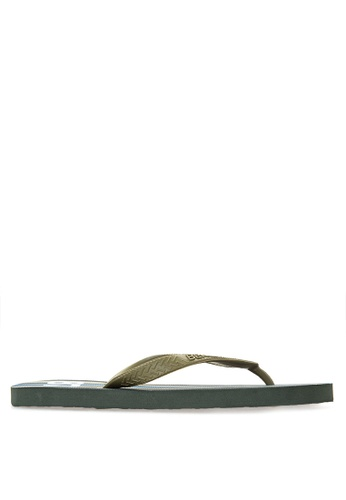 BENCH green Printed Rubber Slippers BE550SH16MAXPH_1