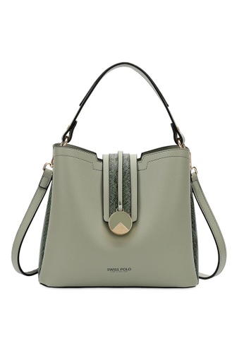 Swiss Polo green Swiss Polo Ladies Top Handle Sling Bag A7211AC034E6EDGS_1
