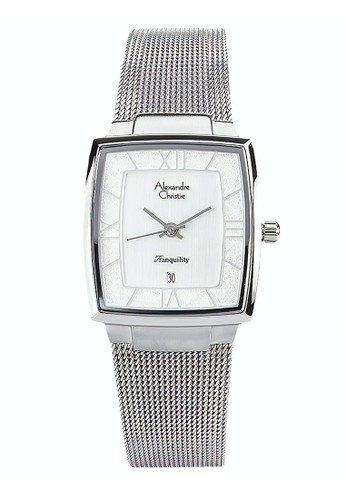 Alexandre Christie silver Alexandre Christie Jam Tangan Wanita - Silver White - Tali Pasir - 8329 LDBSSSL  99059ACF3B905EGS_1