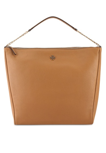 TORY BURCH beige Carter Slouchy Hobo (NT) 1AE7CACB5957D2GS_1