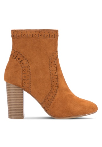Dorothy Perkins brown Tan Acorn Chop-Out Boots DO816SH26FABMY_1
