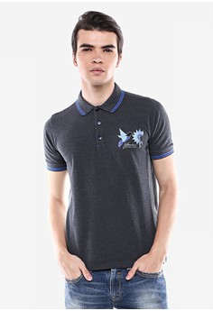 harga Johnwin - Slim Fit - Kaos Polo - Abu - Gambar Burung. Zalora.co.id