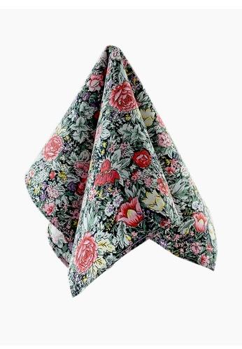 Caveman multi Cool Blossom Floral Pocket Square EF85EAC7F45A02GS_1