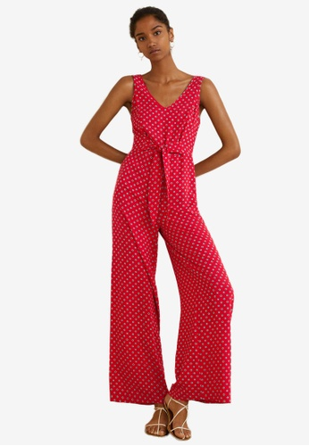 Mango red Bow Long Jumpsuit F34BDAA0D81ED9GS_1