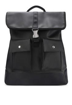 Textured Zippered Flap Street Pack