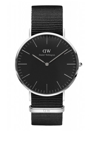 Cozalora 心得rnwall 40mm 經典黑錶盤 NATO 手錶, 錶類, 飾品配件