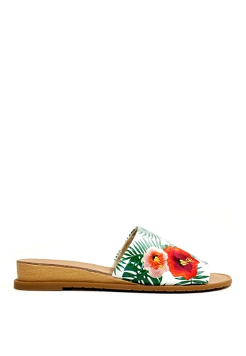 Kenneth Cole New York white and green and multi JOANNE EMBROIDERY - Slide Sandal B9B69SHE2502D2GS_1