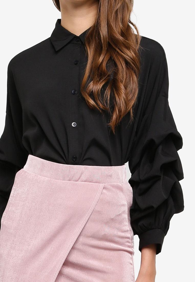 AX Paris Super Sleeve Shirt Black fvqfrwH