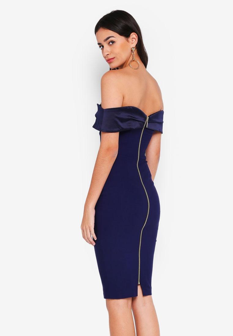 Mini Navy Bardot Dress Yasmin Vesper aFqwgTnv