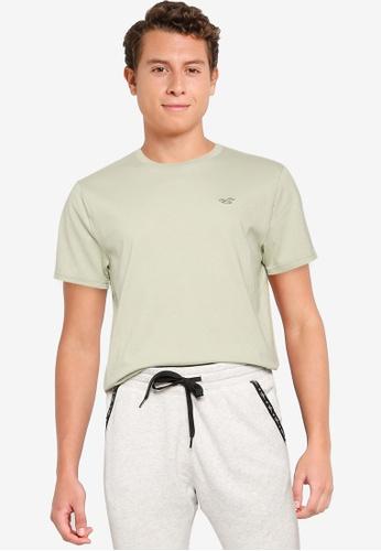 Hollister green Crew Solid T-Shirt 96CC4AA472B969GS_1