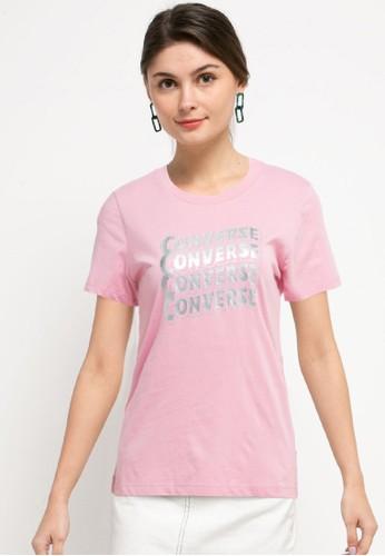 Converse pink Metallic Wave Classic Tee B4F05AA0F91402GS_1