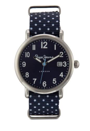 R2351105509 Charlieesprit床組 印花布料女性圓錶, 錶類, 飾品配件