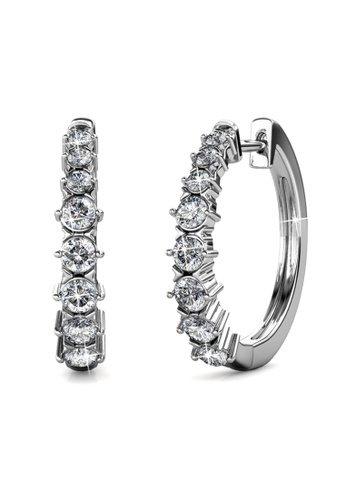 Her Jewellery silver Pam Clip Earrings -  Made with premium grade crystals from Austria HE210AC0GRCBSG_1