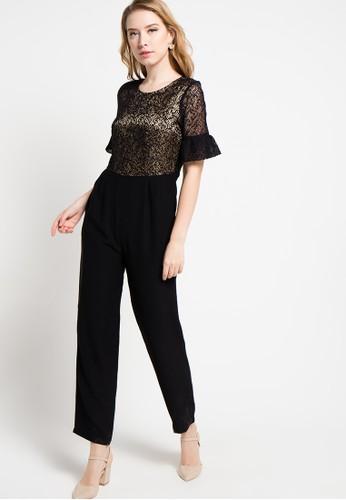 B.L.F black Etrol Lace Jumpsuit BL612AA45XWKID_1