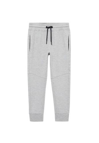 MANGO KIDS grey Cotton Jogger-Style Trousers F2C61KA2D242D4GS_1